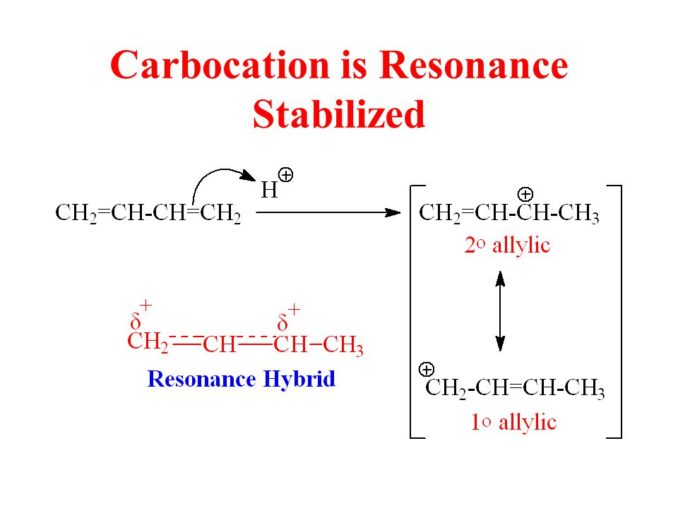 Carbocation is Resonance Stabilized