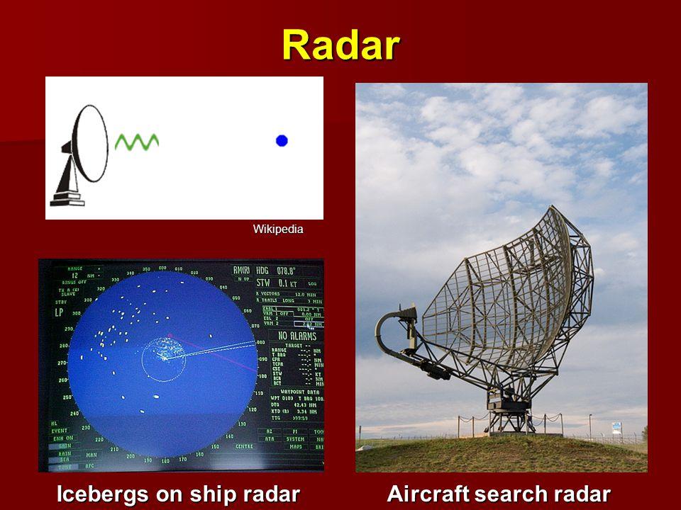 Radar Icebergs on ship radar Aircraft search radar Wikipedia