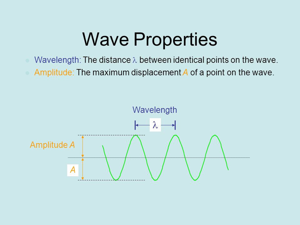 Wave Speed Wavelength is distance between peaks Frequency is number of peaks per second going past a point in the water Frequency depends on wavelength and how fast the wave moves!!!
