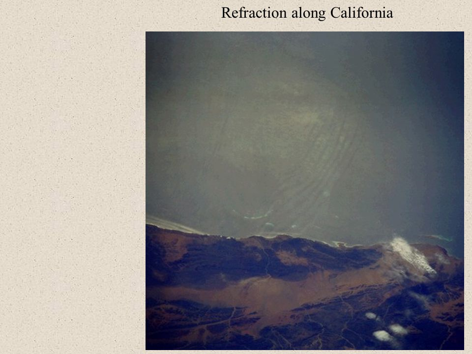Refraction along California