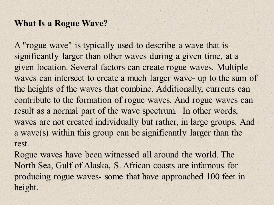 What Is a Rogue Wave? A