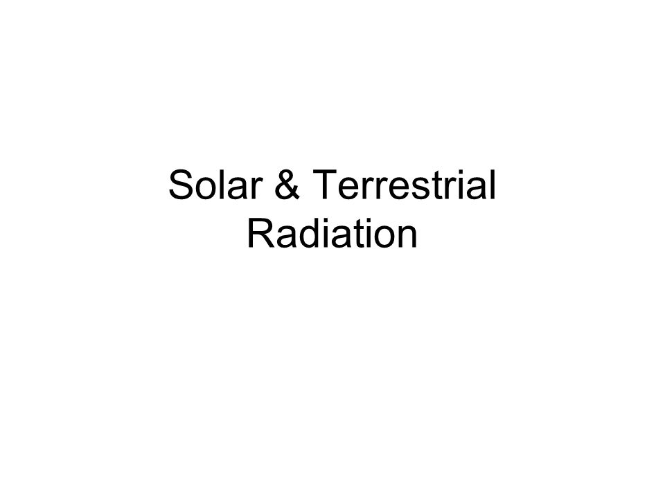 Solar Altitude Intensity of solar radiation varies with latitude Intensity of solar radiation varies with time of day Intensity of solar radiation varies with path through atmosphere gases
