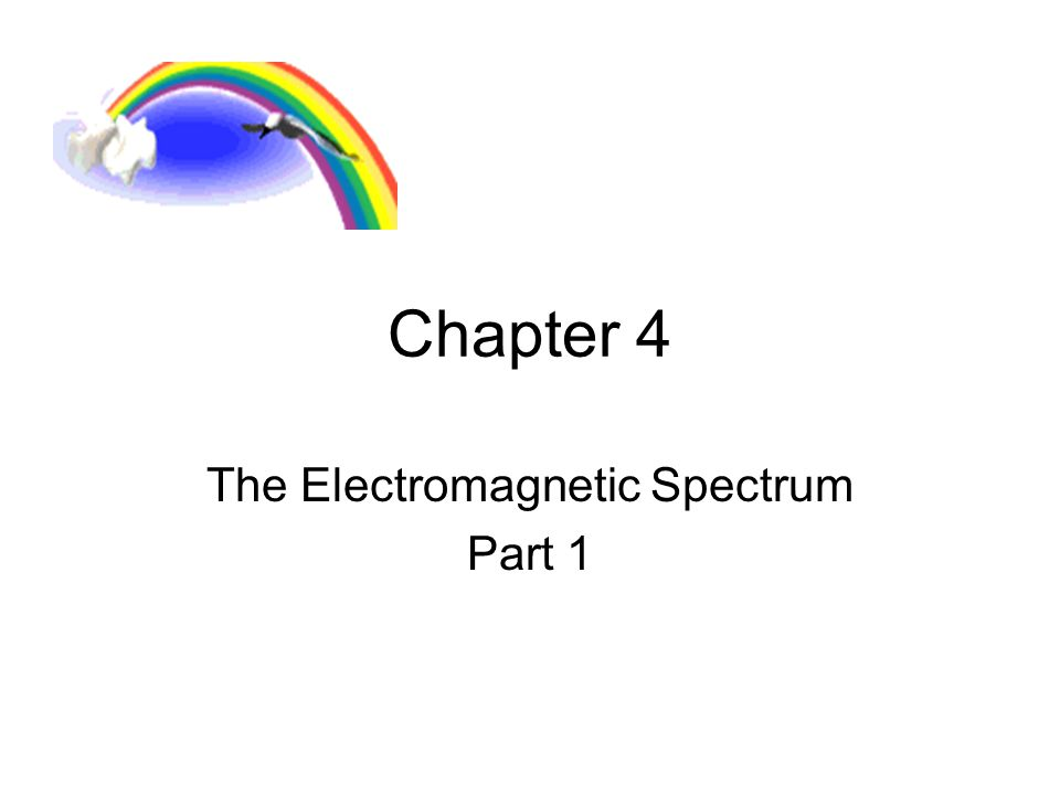 Chapter 4 The Electromagnetic Spectrum Part 1