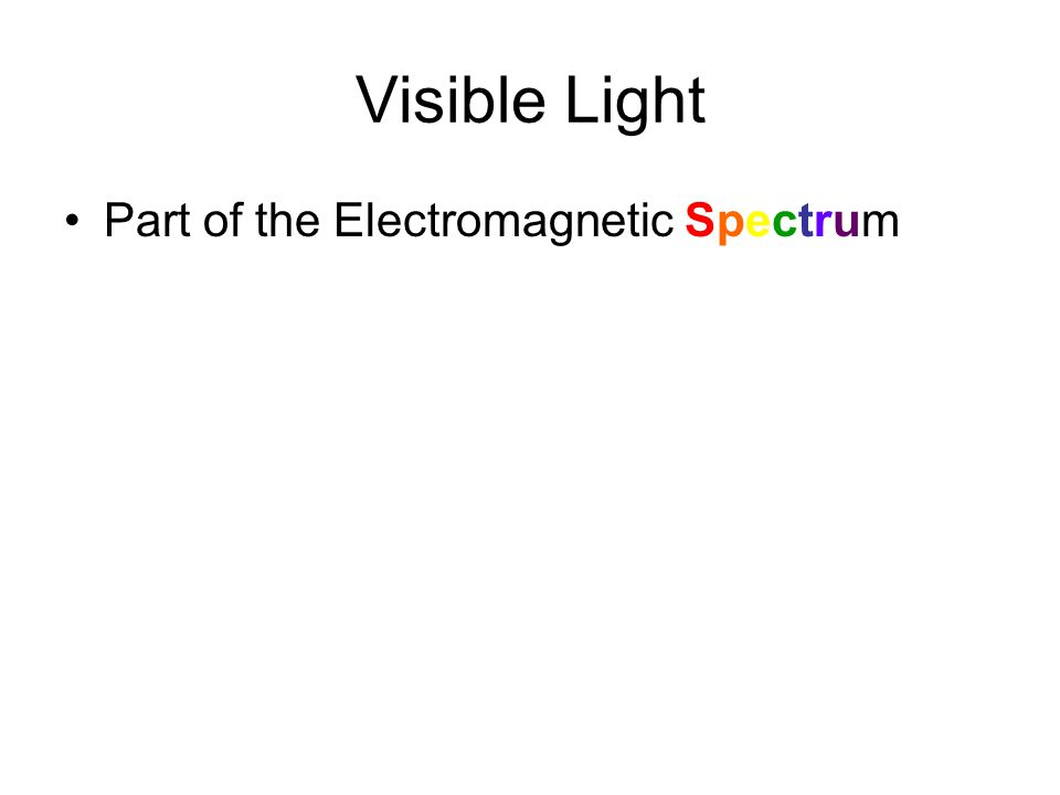 Visible Light Part of the Electromagnetic Spectrum