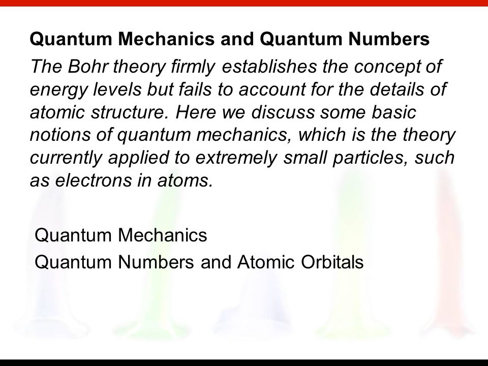 Contents and Concepts Light Waves, Photons, and the Bohr Theory To understand the formation of chemical bonds, you need to know something about the el