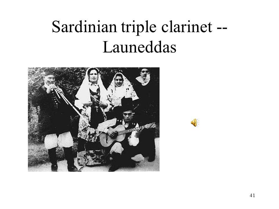 41 Sardinian triple clarinet -- Launeddas