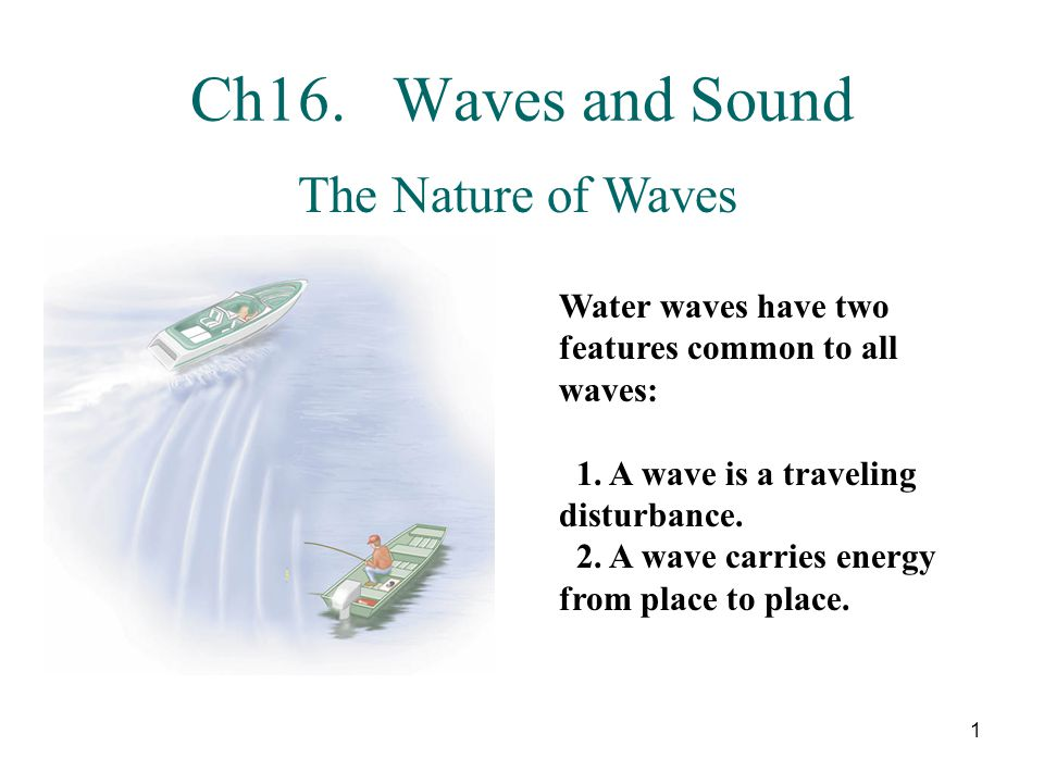 2 Two basic types of waves, transverse and longitudinal.