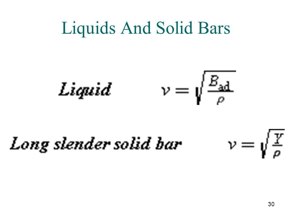 30 Liquids And Solid Bars