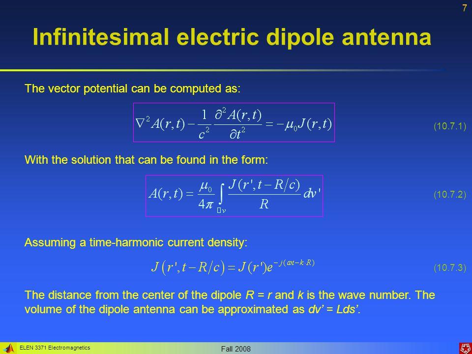 ELEN 3371 Electromagnetics Fall 2008 28 Antenna parameters 2.