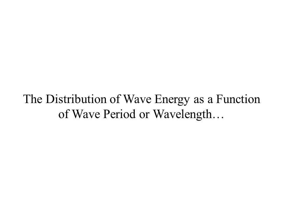 The Distribution of Wave Energy as a Function of Wave Period or Wavelength…