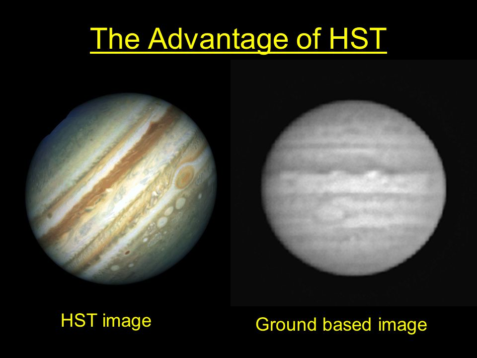 The Advantage of HST HST image Ground based image