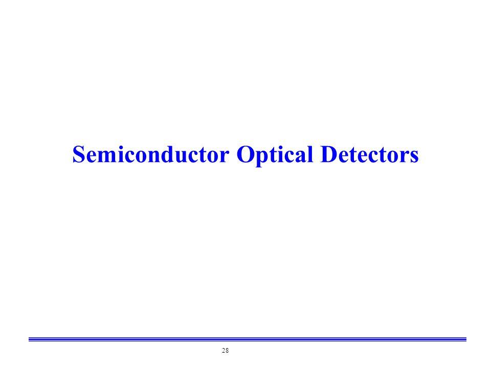 28 Semiconductor Optical Detectors