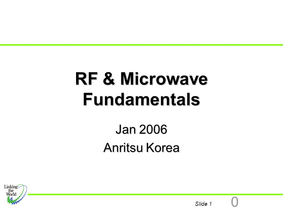 Slide 2 0 Basic Fudamentals Definition of Terms Definition of Terms What Does RF Mean.