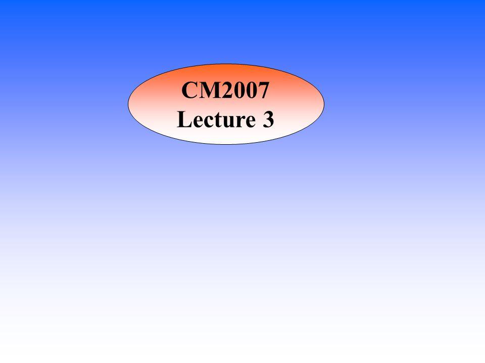 CM2007 Lecture 3