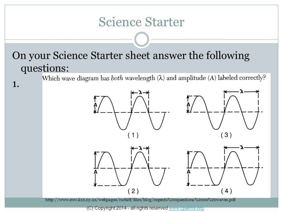 Science Starter 1.