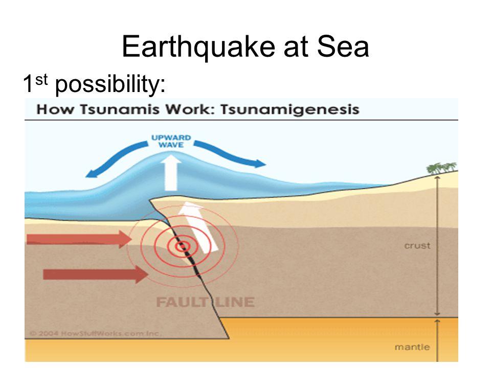 Earthquake at Sea 2 nd possibility: