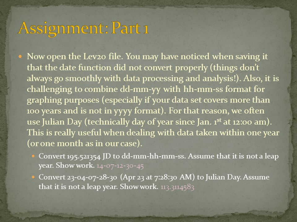 Now open the Lev20 file.