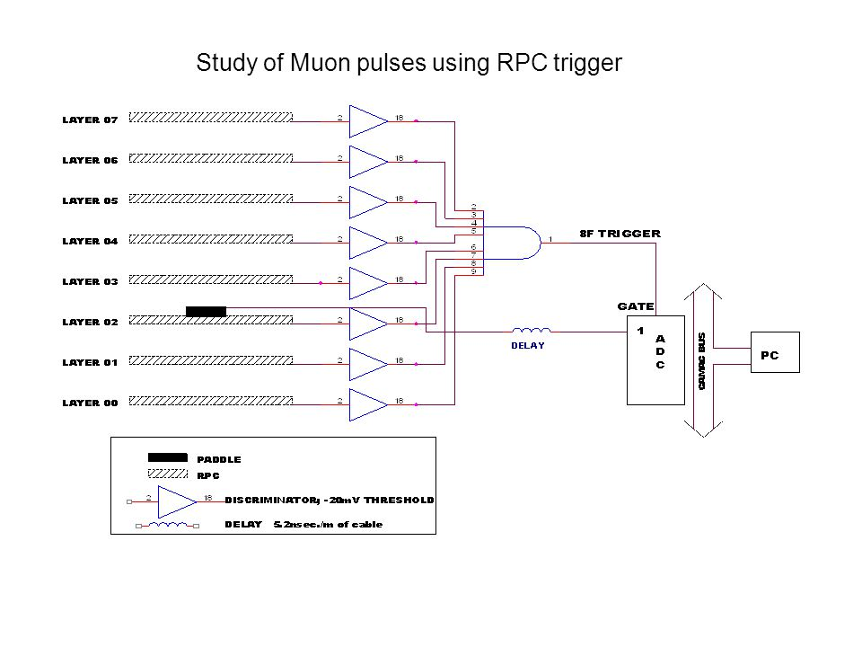Study of Muon pulses using RPC trigger