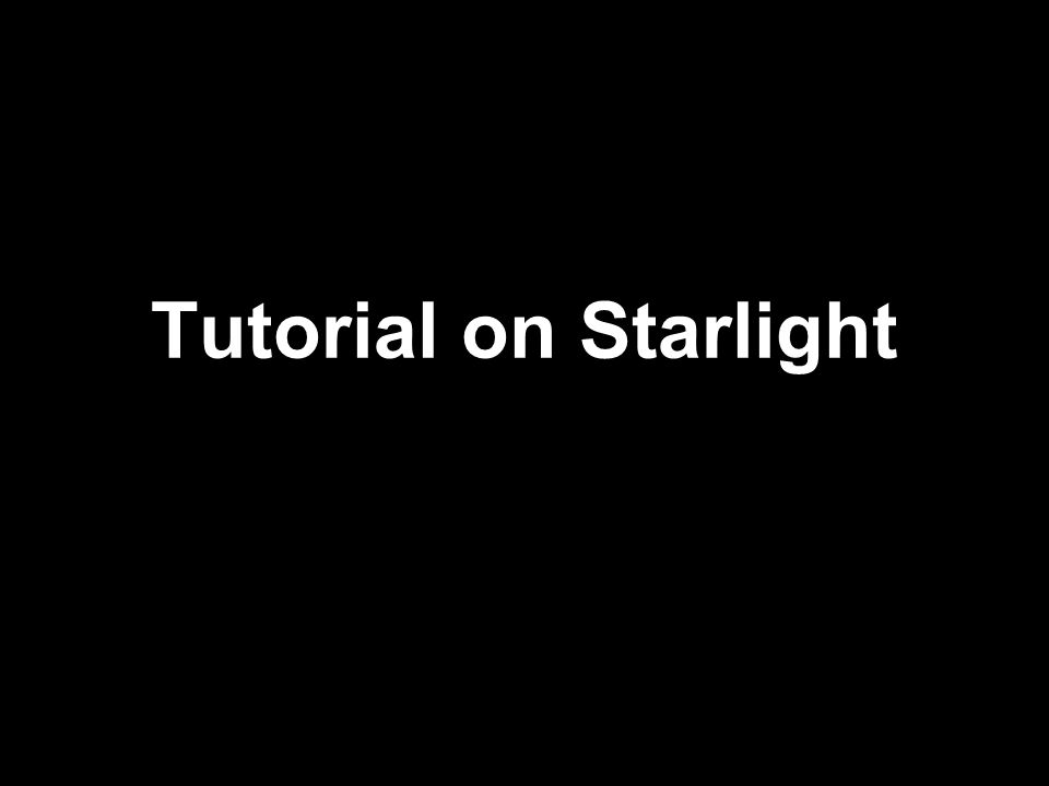 Tutorial on Starlight