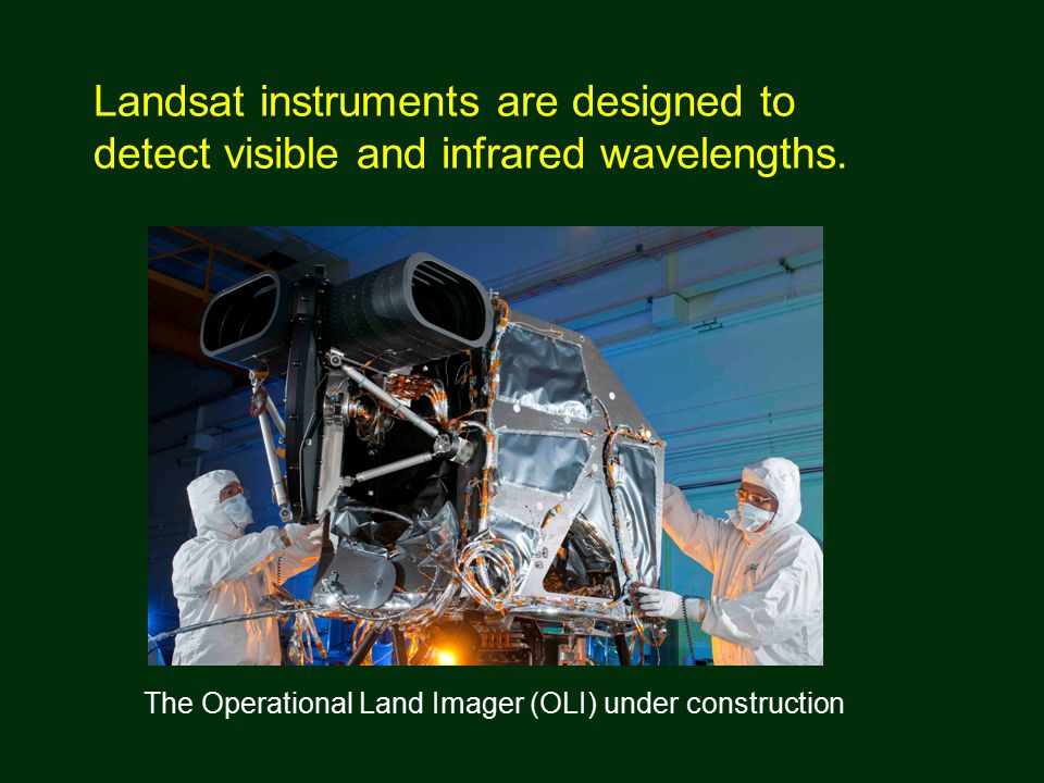 Landsat instruments are designed to detect visible and infrared wavelengths.