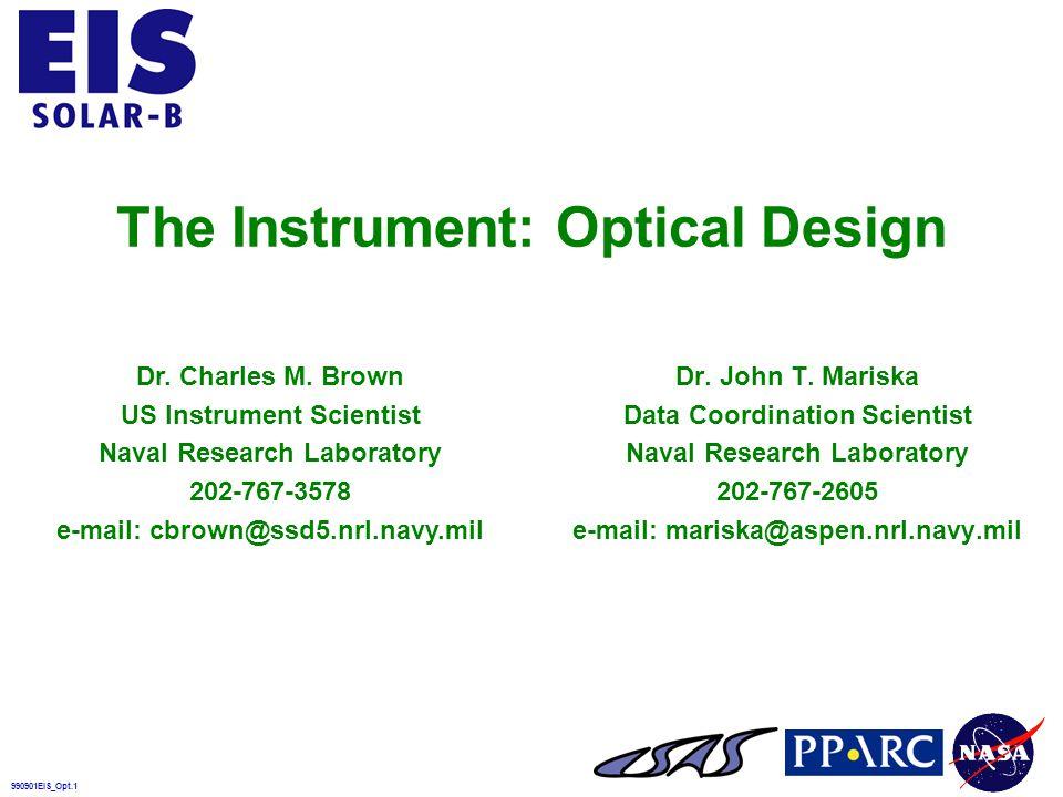 990901EIS_RR_Opt.32 EIS Is a Stigmatic Spectrometer