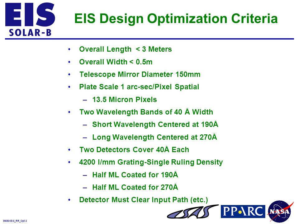 990901EIS_RR_Opt.24 1 Seely, Applied Optics 36, 8206 (1997) 2 J-PEX mission, Ray Cruddace and Mike Kowalski NRL Experience With Zeiss Holographic Ion-Etched Laminar Gratings