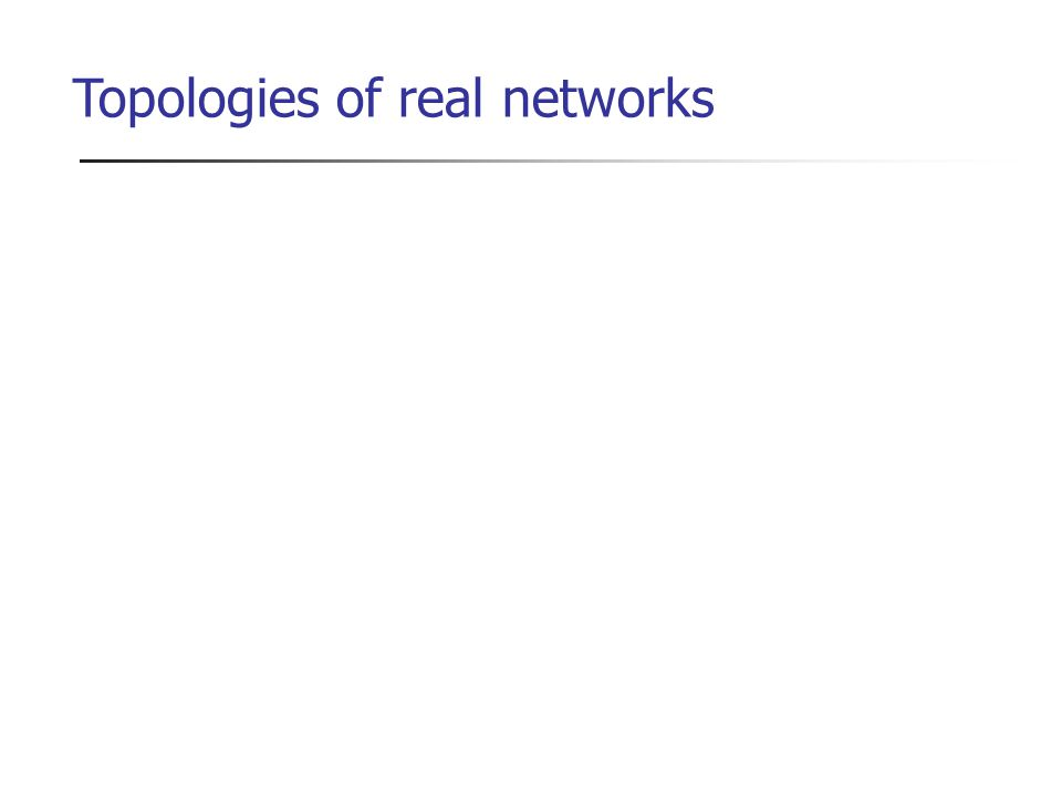 Topologies of real networks