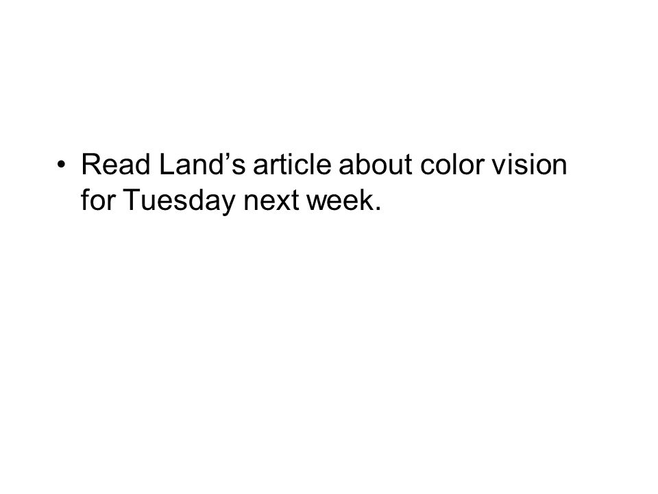 Midterm 2 November 2nd and 3rd Covers everything about vision