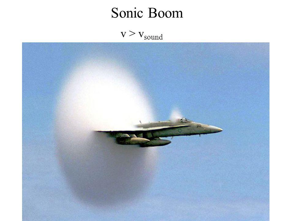 Sonic Boom v > v sound