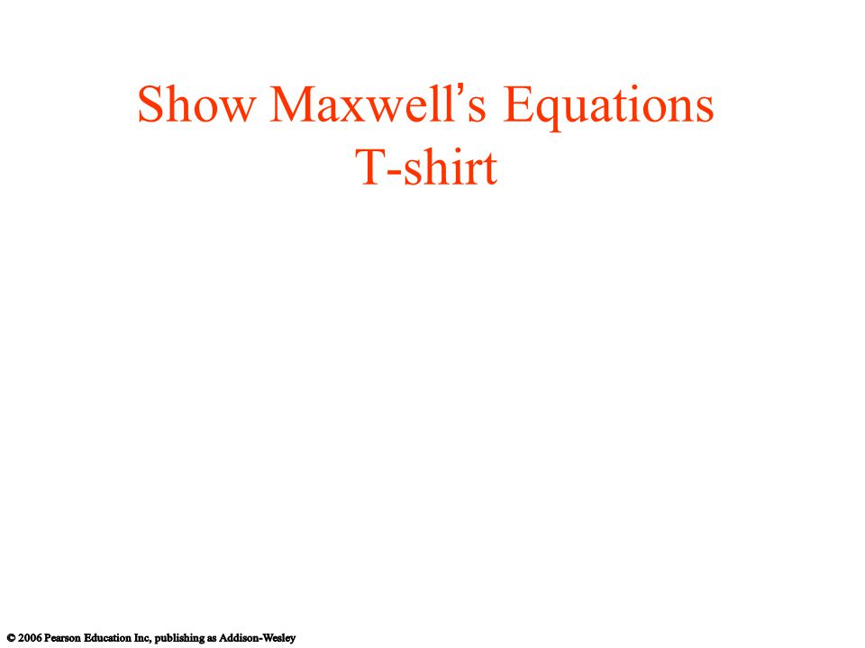 Show Maxwell's Equations T-shirt