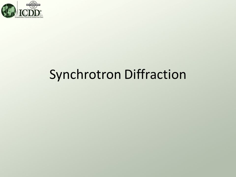 Synchrotron Applications What.