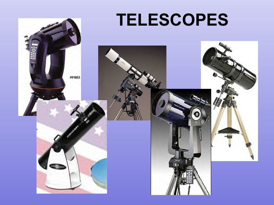 For this discussion, we will use the word telescope to mean Optical Telescope These are the types of telescopes you (the student) are most likely to use.