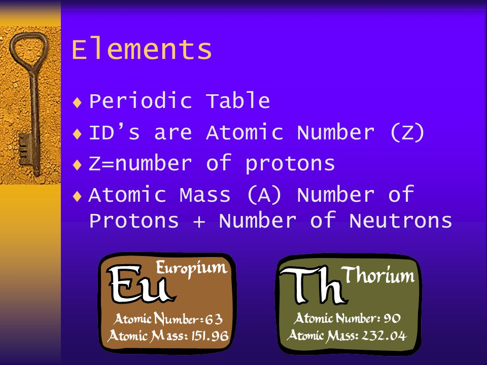 Elements  Neutral Atoms have same # of electrons and protons  Ions have lost or gained some electrons  Isotopes have lost or gained some neutrons