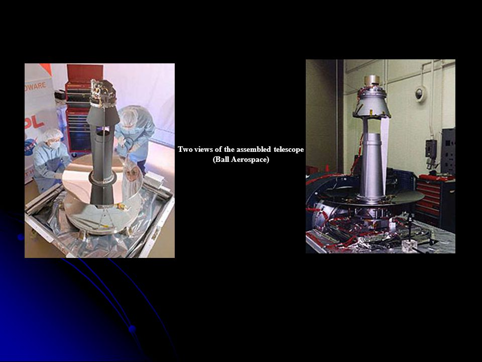 Two views of the assembled telescope (Ball Aerospace)