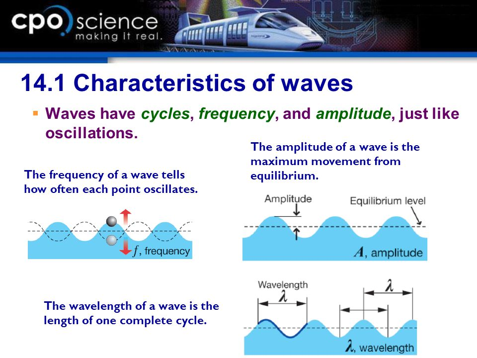 14.1 Wave pulses  A wave pulse is a short length of wave, often just a single oscillation.
