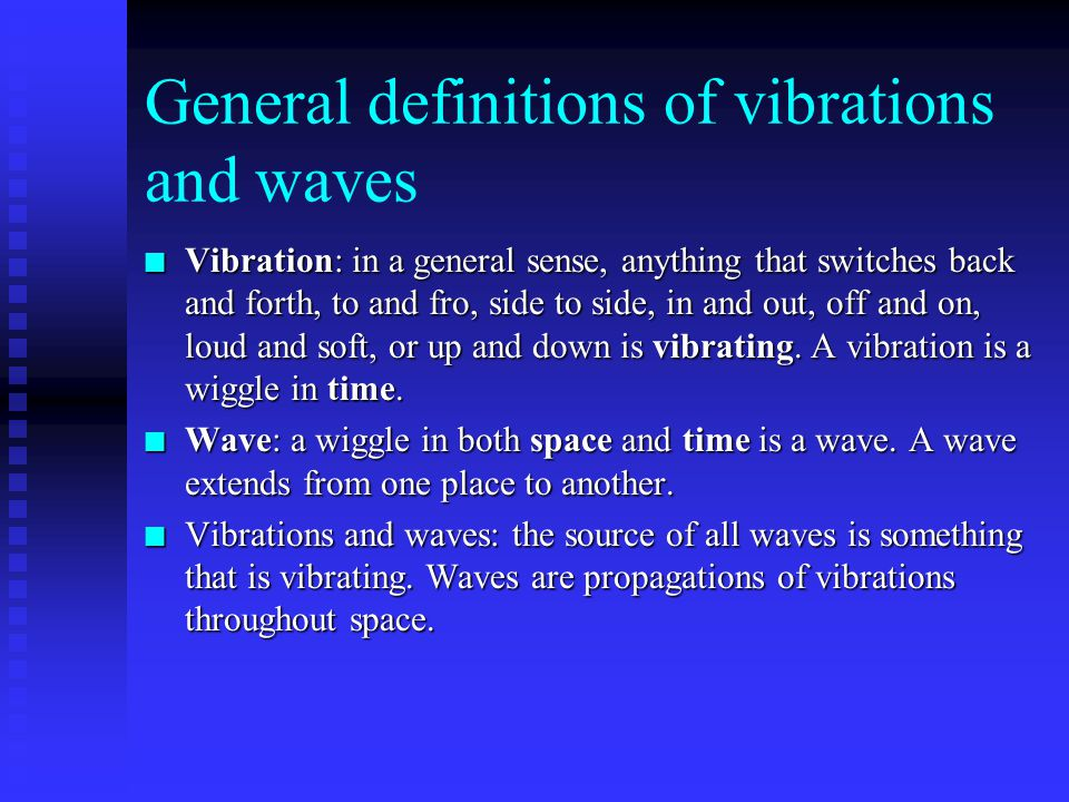Chapter 25 Vibrations and Waves