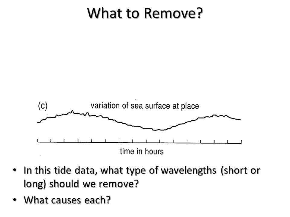 In this tide data, what type of wavelengths (short or long) should we remove? In this tide data, what type of wavelengths (short or long) should we re