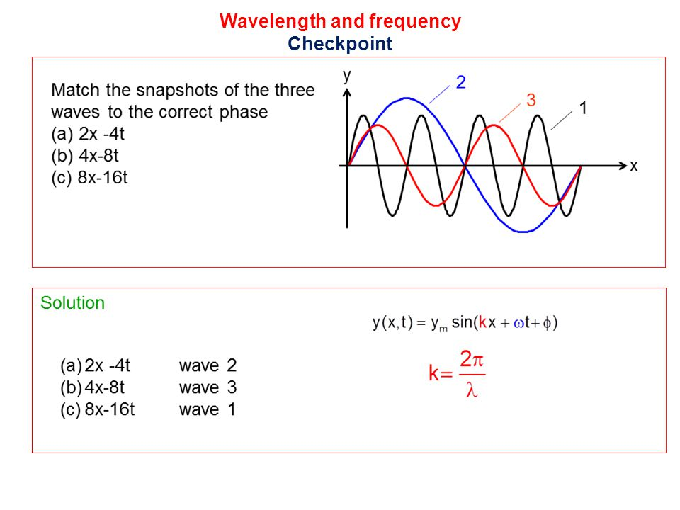 Wavelength and frequency Checkpoint