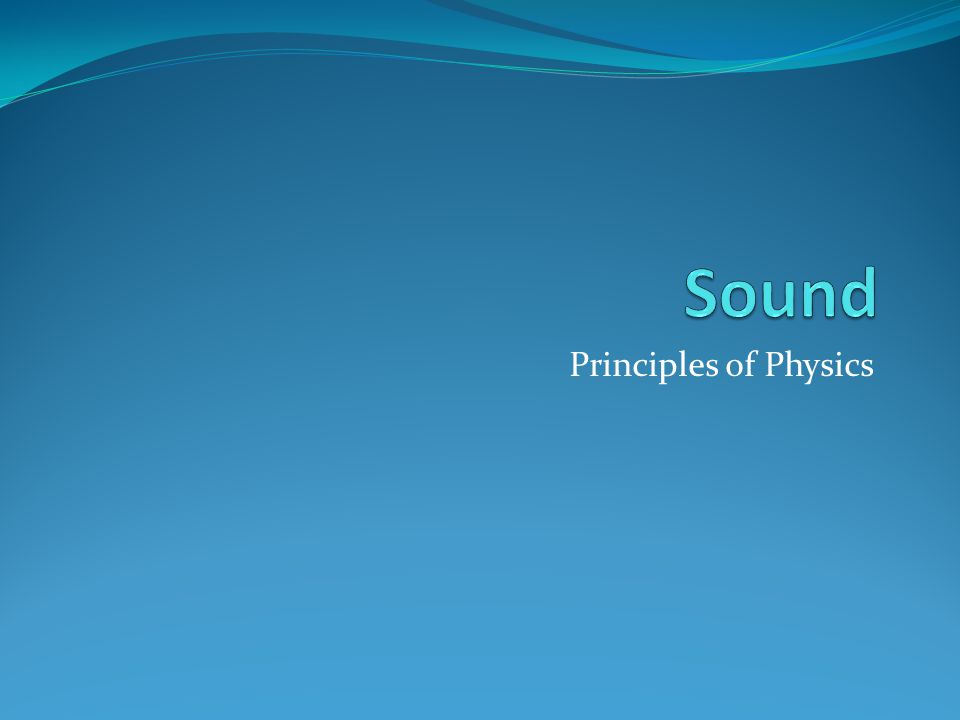 Principles of Physics
