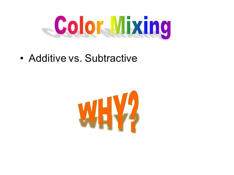 Additive vs. Subtractive