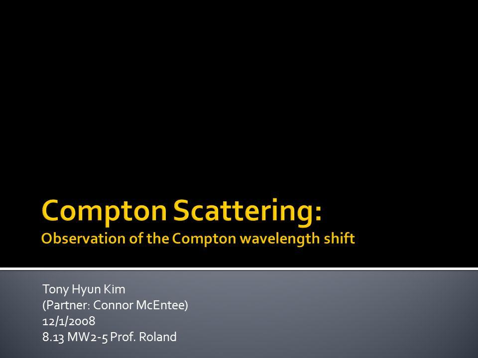Tony Hyun Kim (Partner: Connor McEntee) 12/1/2008 8.13 MW2-5 Prof. Roland