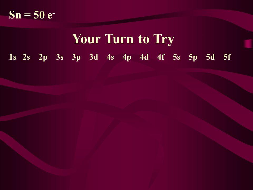 Ni = 28 e - 1s 2 2s 2 2p 6 3s 2 3p 6 3d 8 4s 2 4p 4d 4f 5s 5p 5d 5f 2 + 2 + 6 + 2 + 6 + 8 + 2 = 28