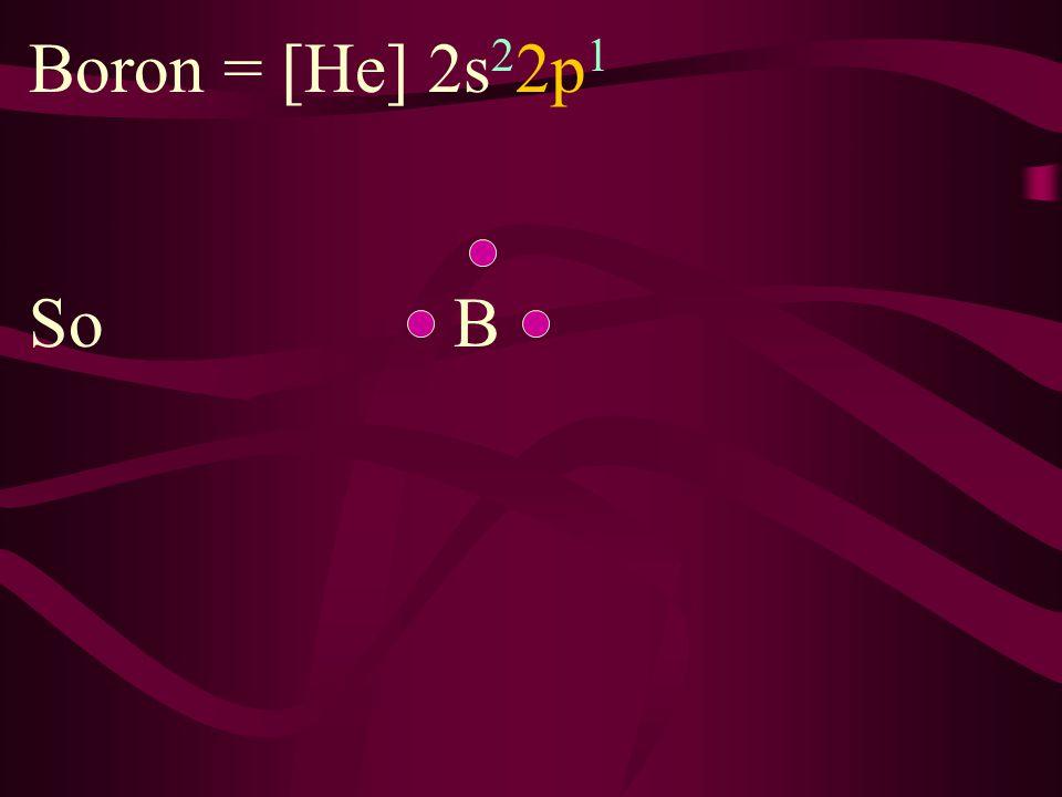 Beryllium = [He] 2s 2 So Be
