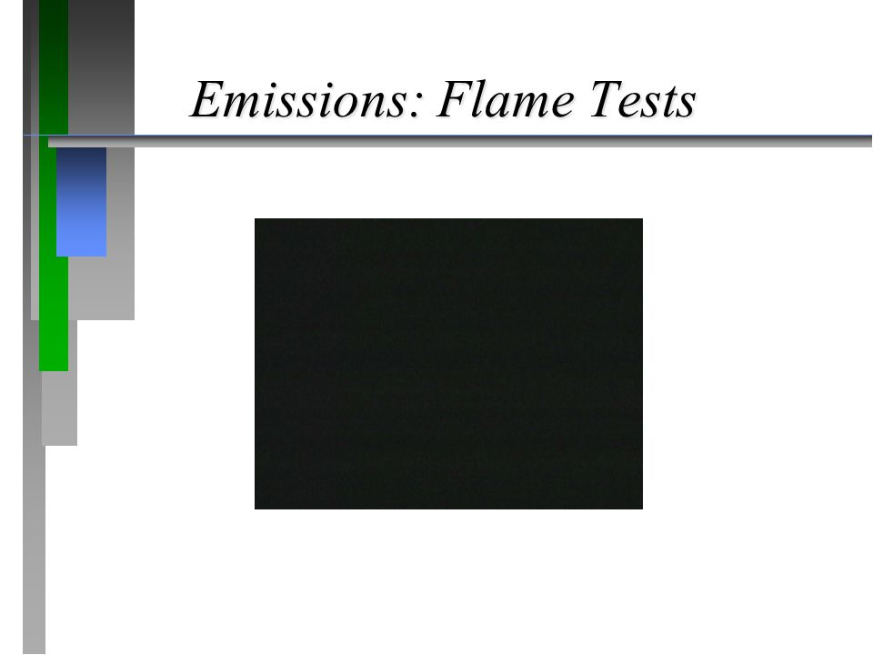 Emissions: Flame Tests
