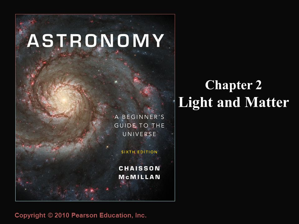Copyright © 2010 Pearson Education, Inc. Chapter 2 Light and Matter