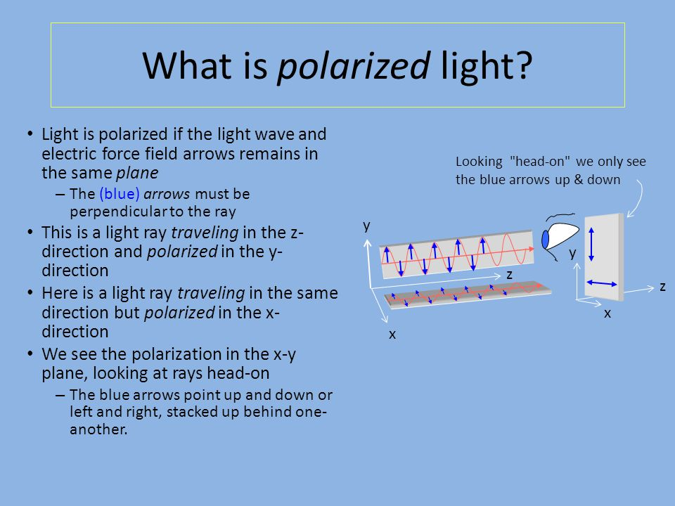 What is polarized light.
