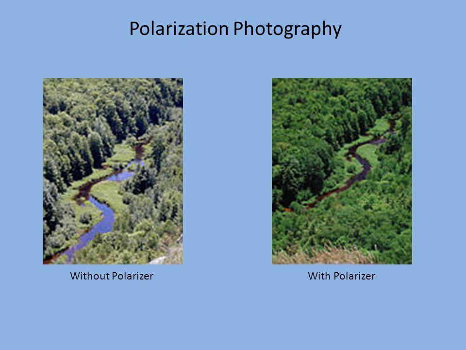 Polarization Photography Without Polarizer With Polarizer