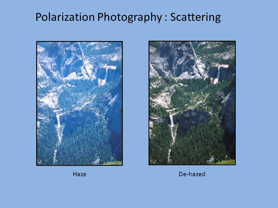 Polarization Photography : Scattering De-hazedHaze