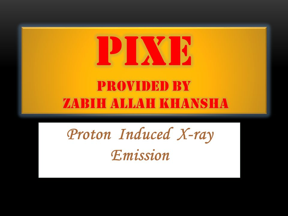 Proton Induced X-ray Emission