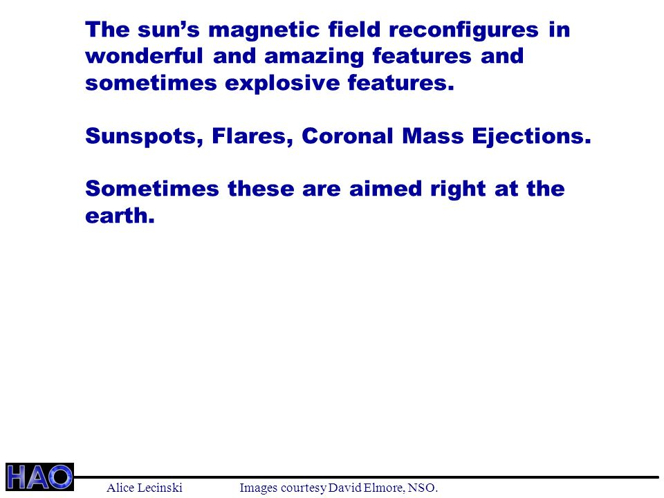 The sun's magnetic field reconfigures in wonderful and amazing features and sometimes explosive features.